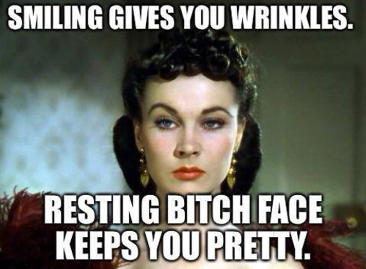 resting bitch face funny image